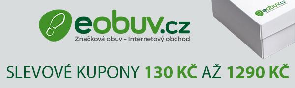 eObuv.cz slevové kód od 130 Kč do 1 290 Kč