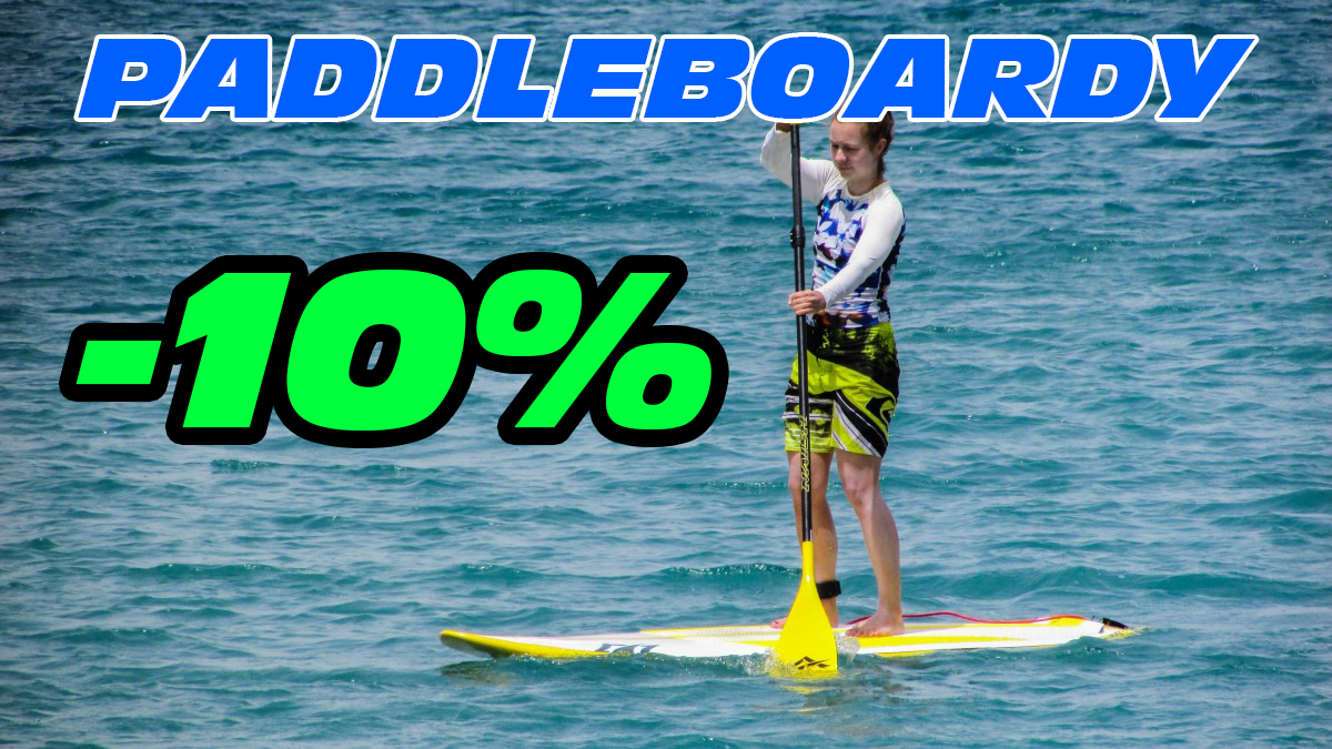 10% sleva na paddleboardy